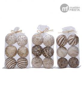 Bolas de Mimbre Decorativas